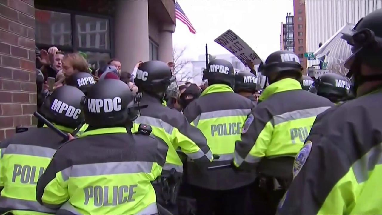 Baltimore police officers in riot gear push protestors back along - Baltimore Police Officers In Riot Gear Push Protestors Back Along 38