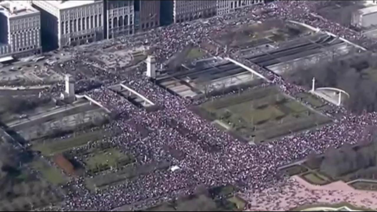 Thousands gather for women's march