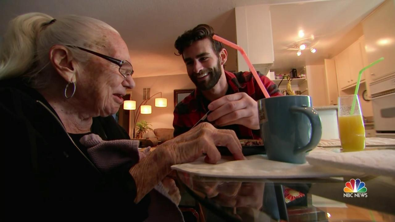 Inspiring America: Young Neighbor Invites Ailing 89-Year-Old to Move In - NBC News