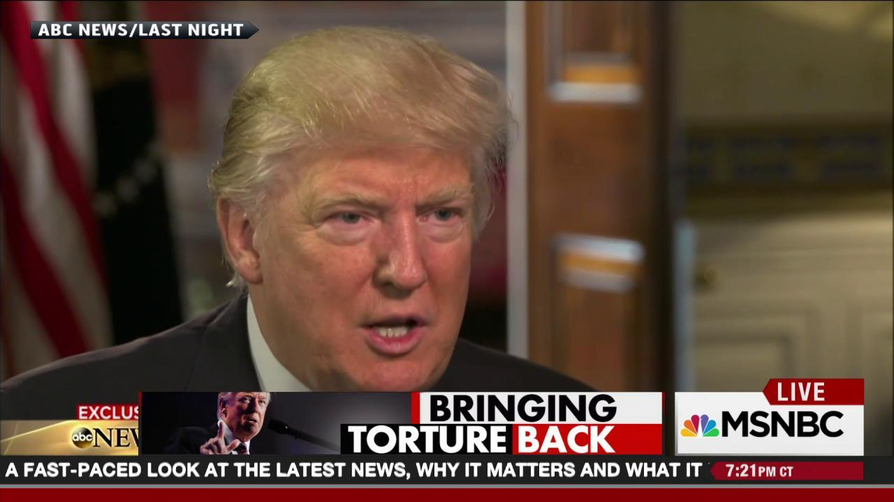 Trump favors torture and 'taking the oil'