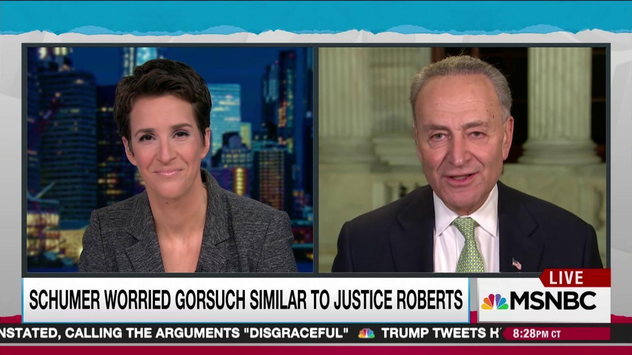 Schumer: Democrats will hold SCOTUS bulwark