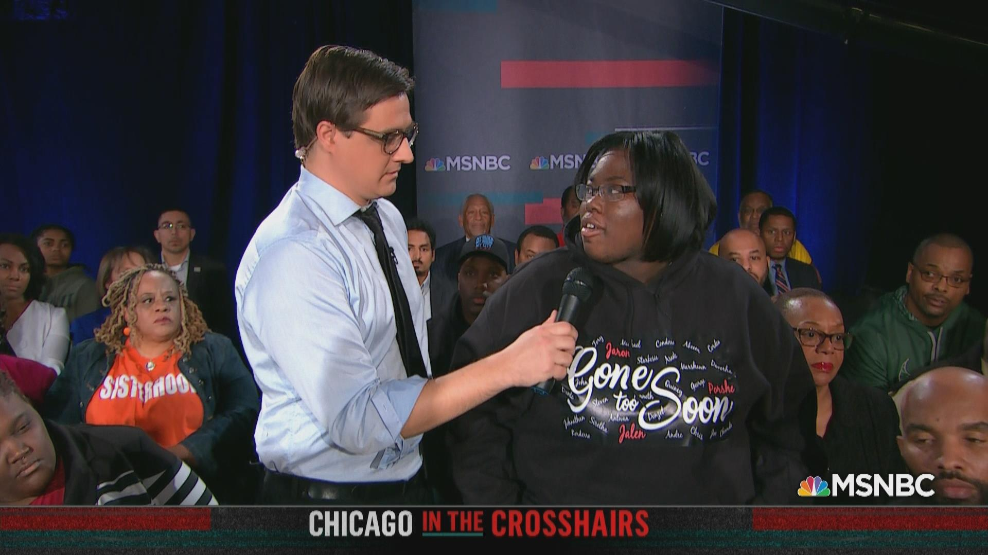 Chicagoan in town hall: 'We're begging'...