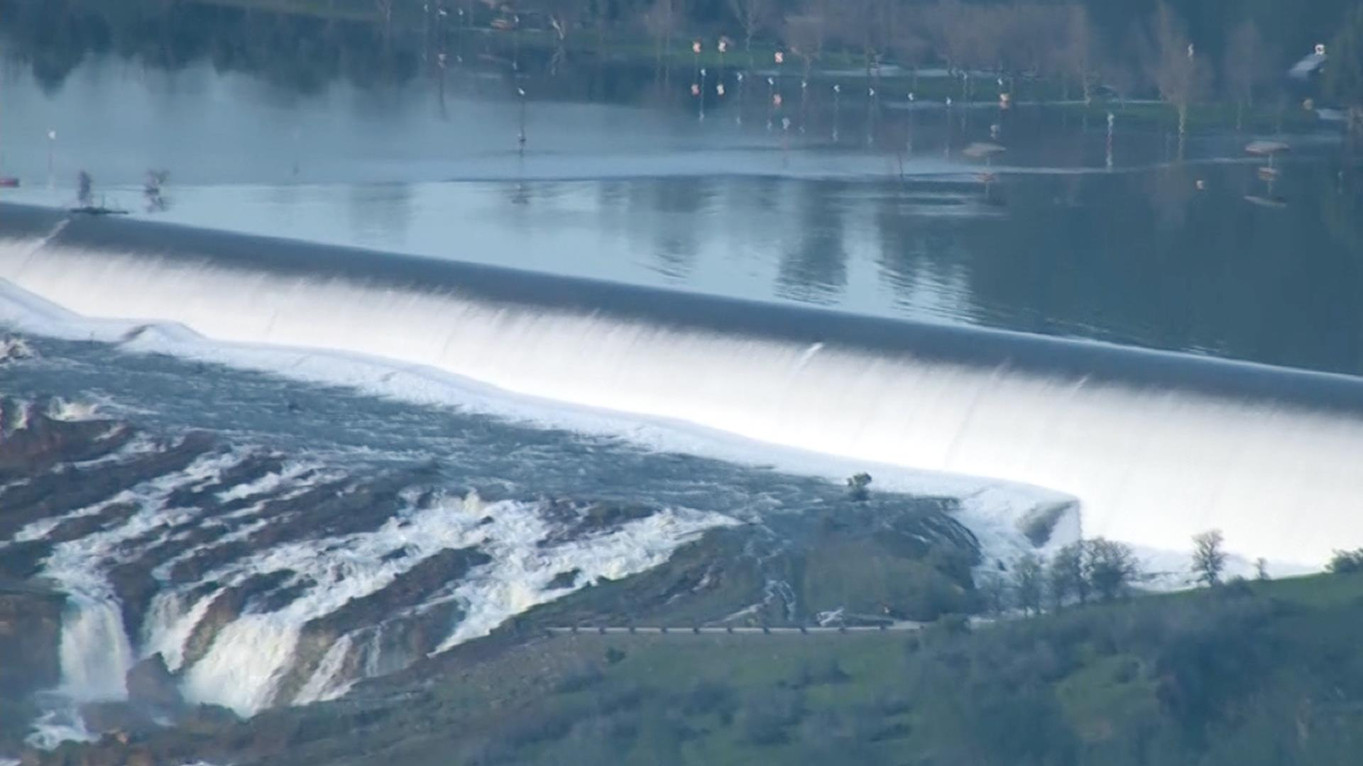 Evacuations Underway As Oroville Dam's Emergency Spillway