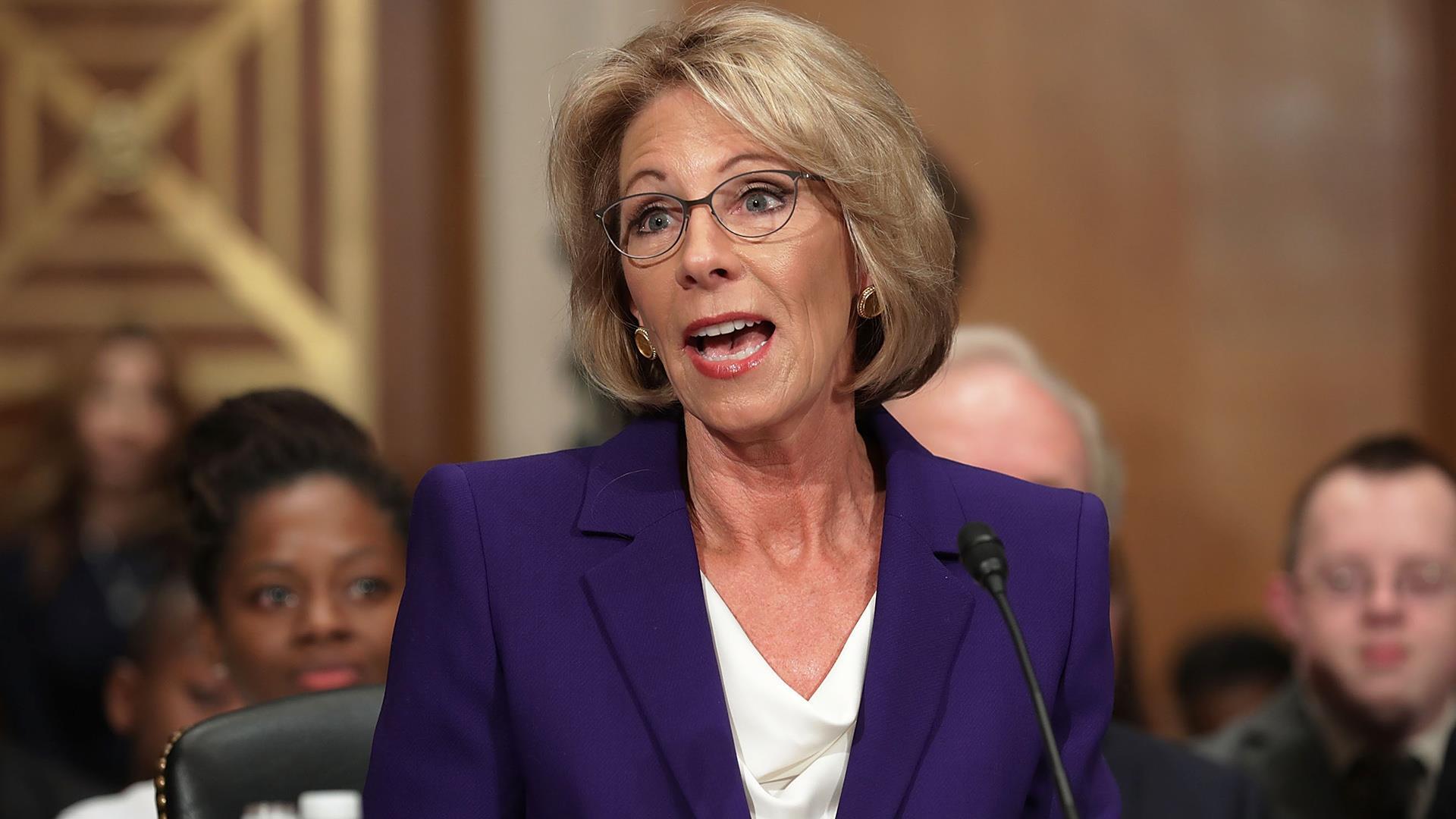 Democrats pull all-nighter to block confirmation of Betsy DeVos