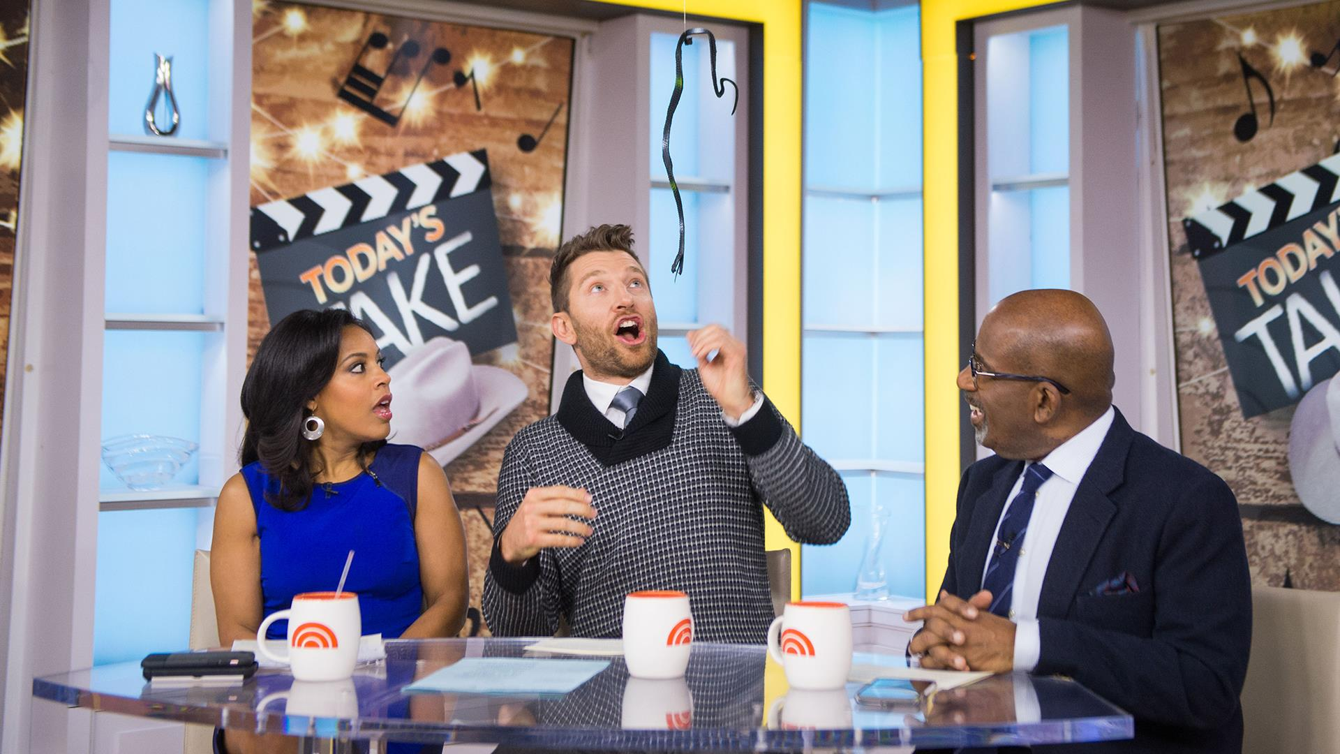 Watch Country Star Brett Eldredge Get Pranked By A Fake Snake On Today