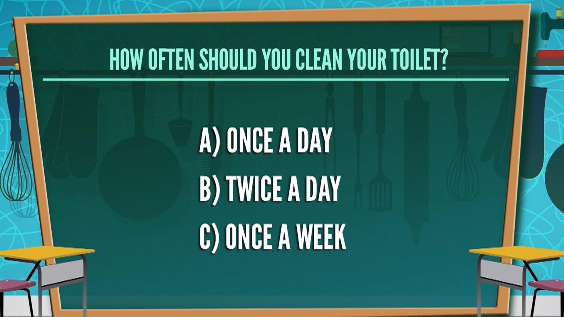 How often should you clean the toilet 1954 quiz stumps for How often to clean bathroom