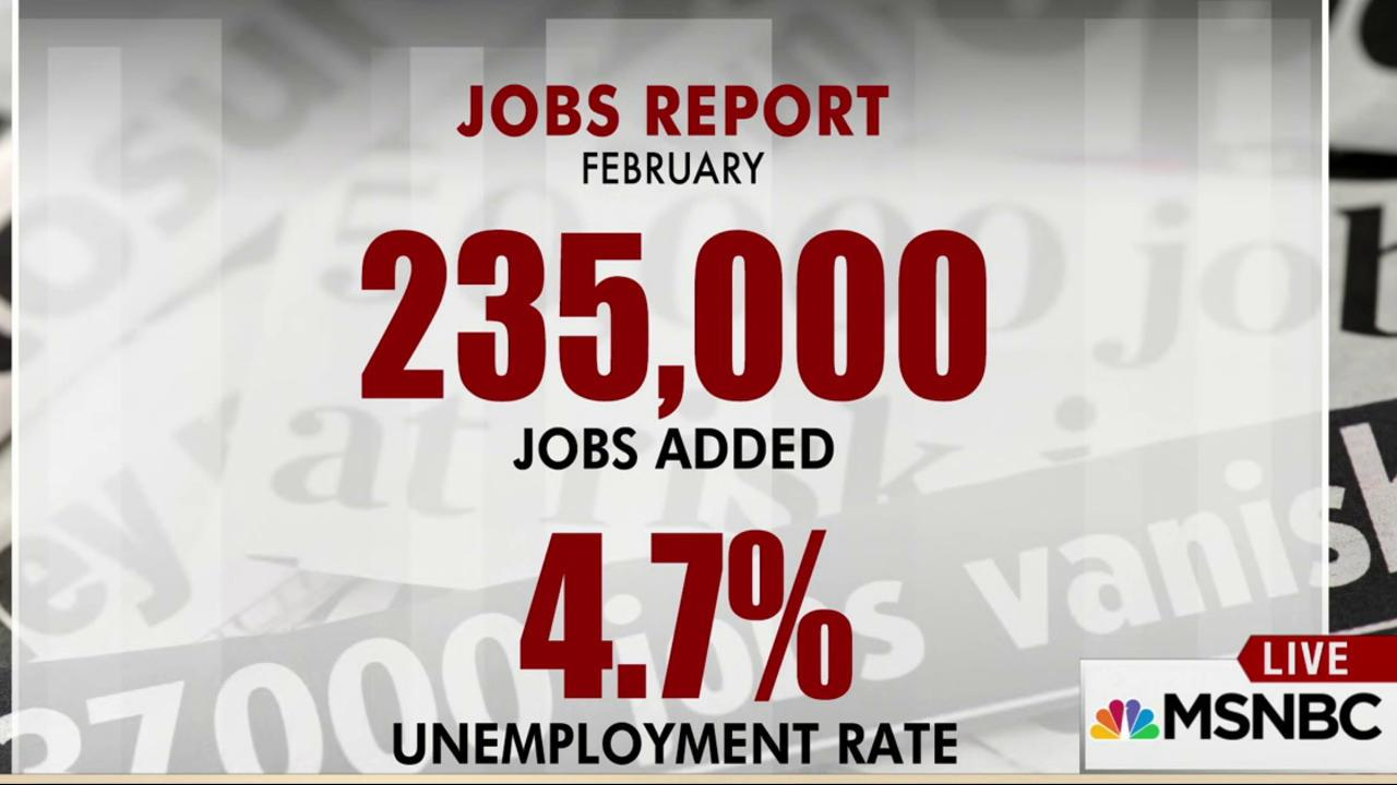 US adds 235,000 jobs, drops to 4.7%...
