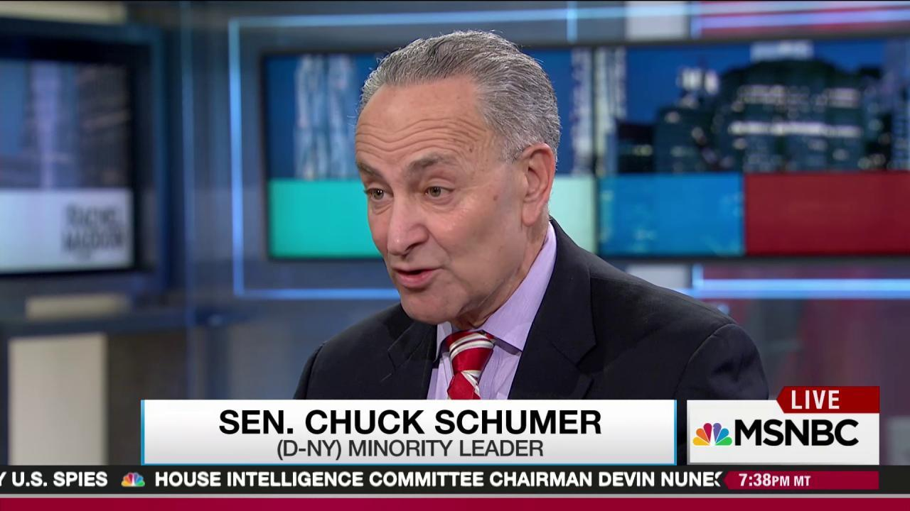 Schumer on Gorsuch: Wrong time, wrong nominee