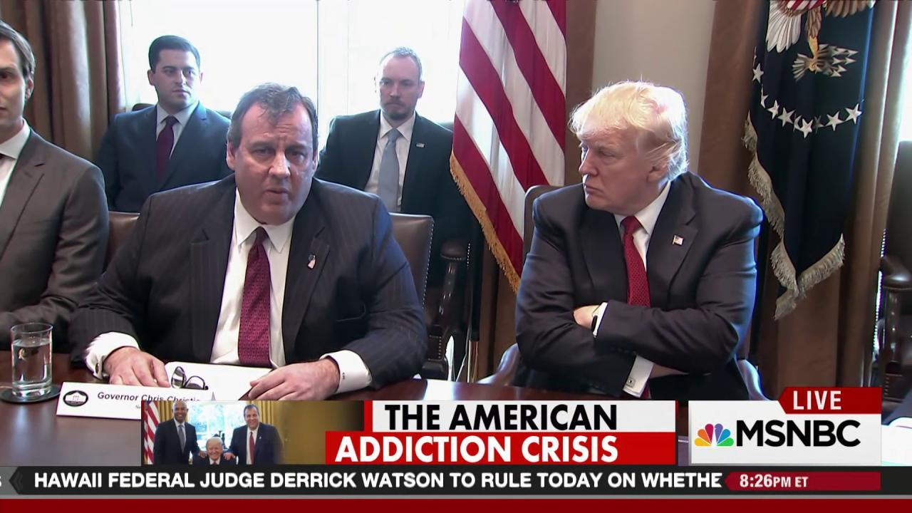 Christie finally has a job in the Trump...