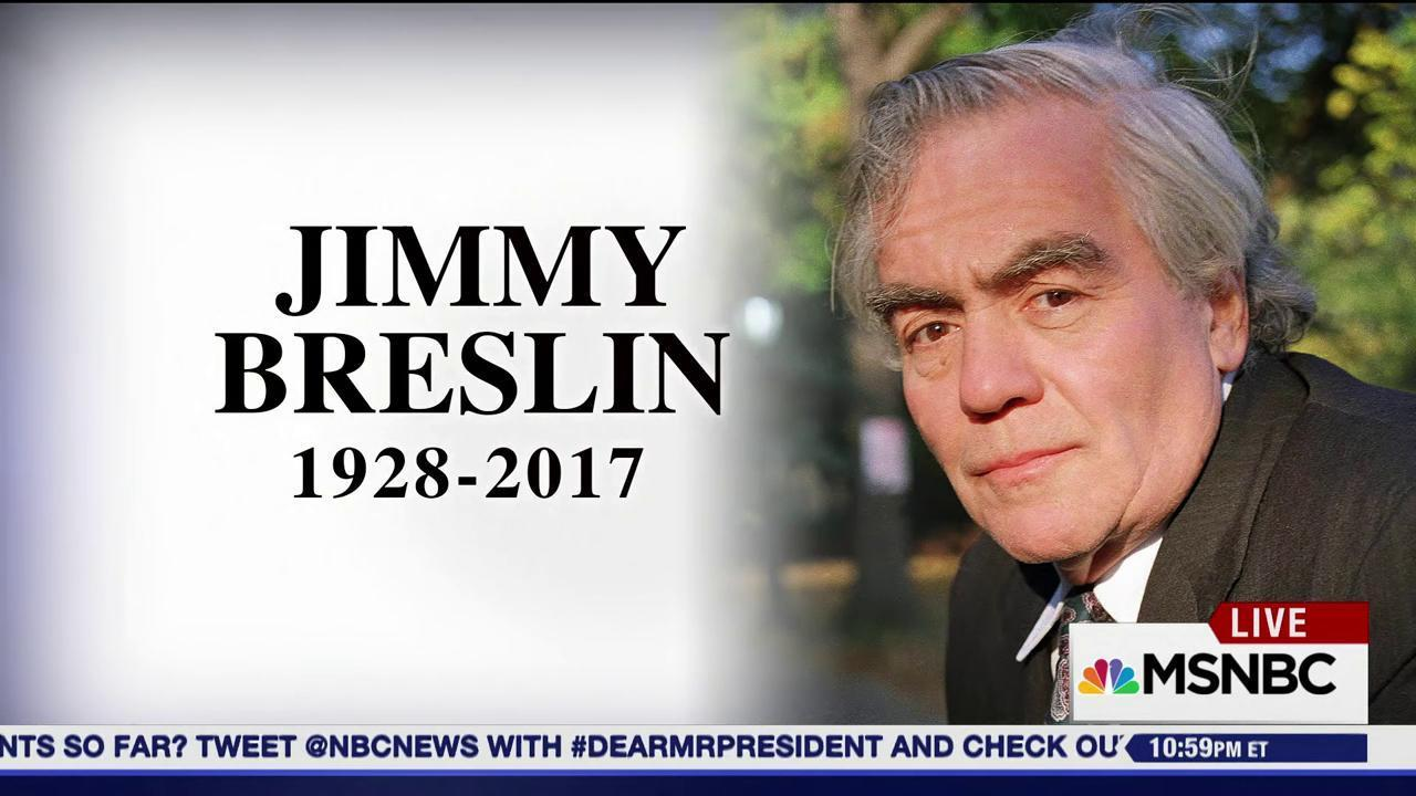 Jimmy Breslin's lesson for Donald Trump