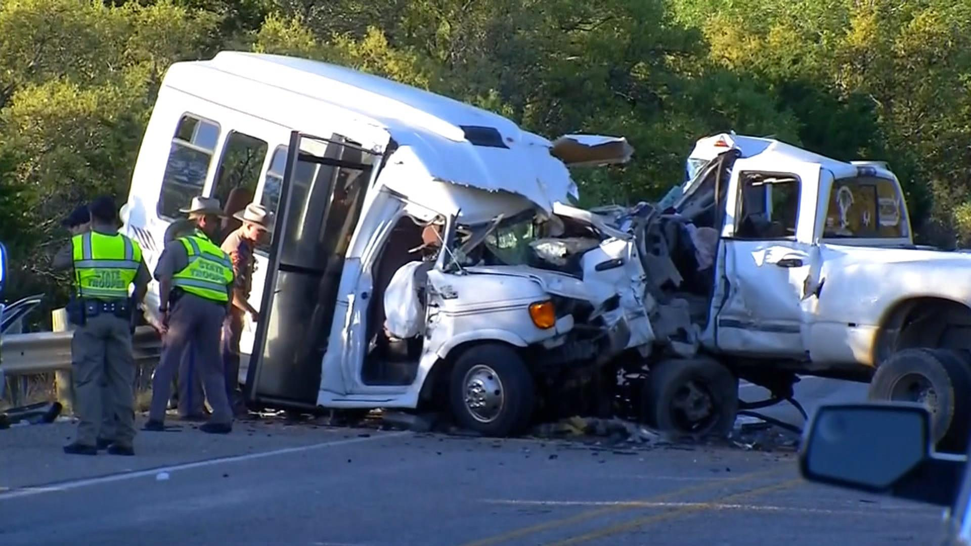 13 dead after pickup truck veers into church van full of seniors in texas nbc news