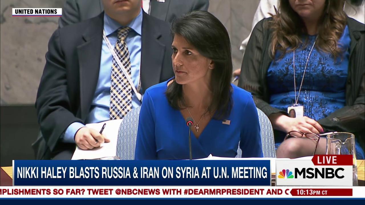 Trump's U.N. Ambassador Nikki Haley blasts...