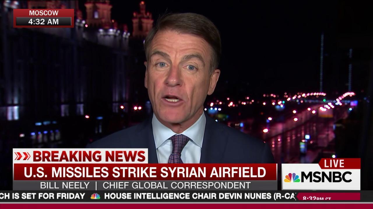 Russian bases observe US missile Syria strike