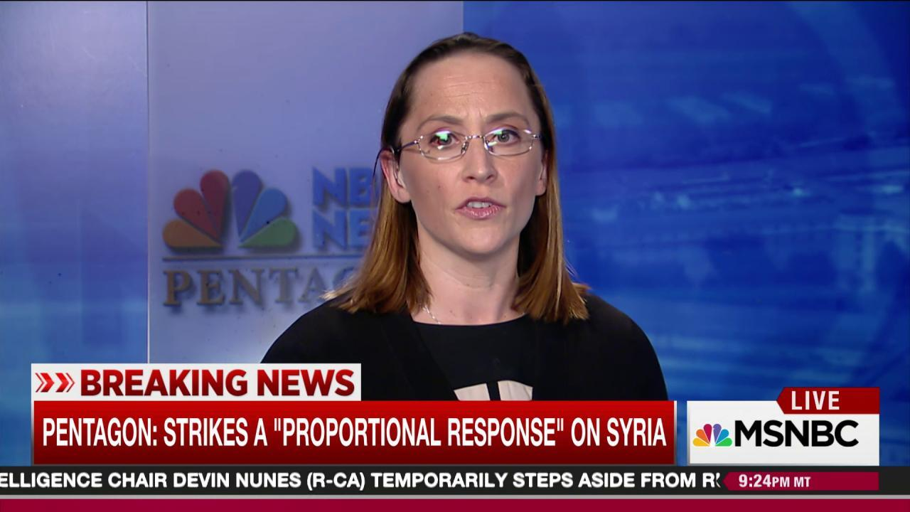US cites gas attack to justify Syria strike