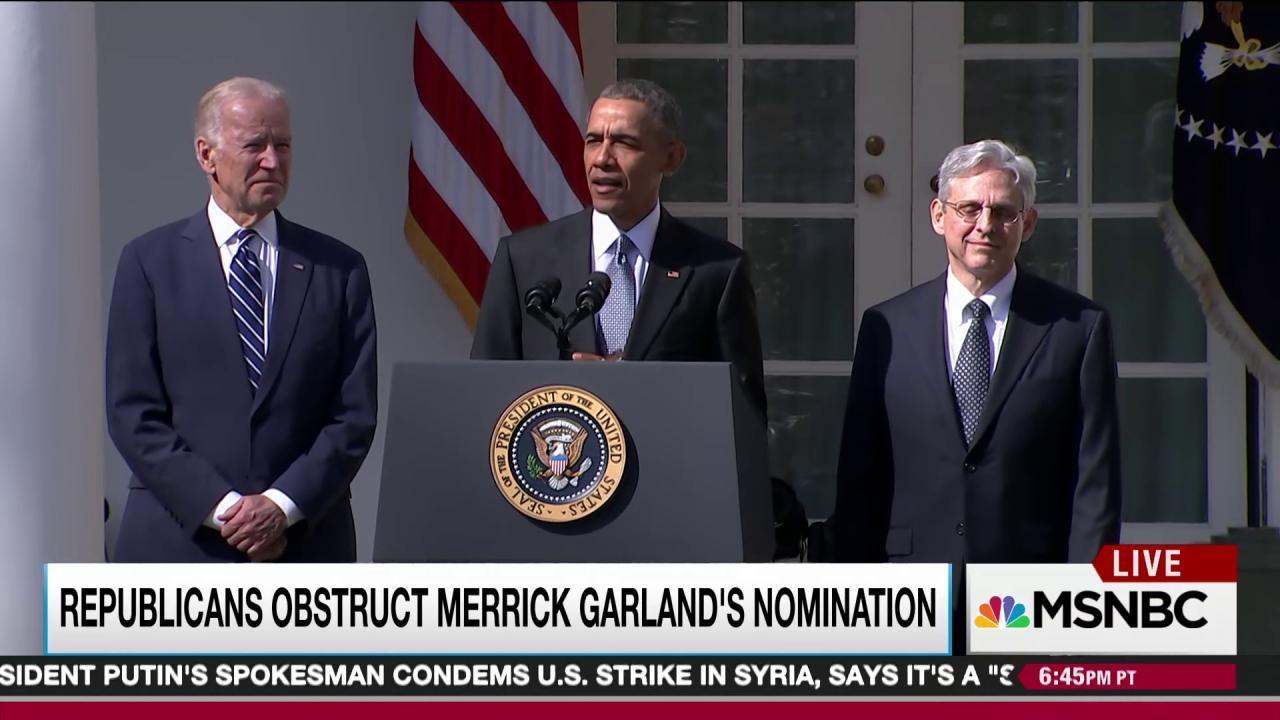 GOP sets Garland precedent with Gorsuch vote