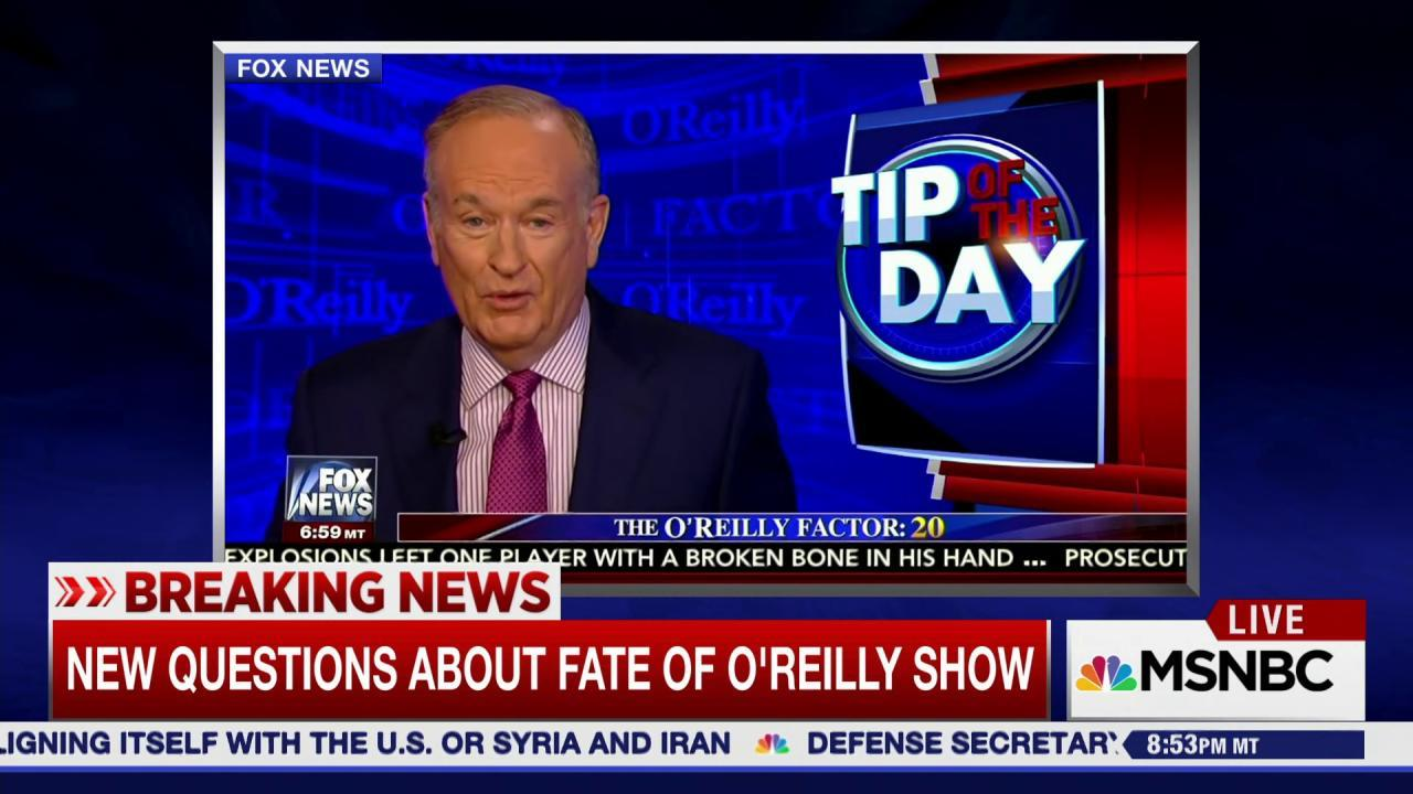 Did Bill O'Reilly just speak his last words on Fox News?