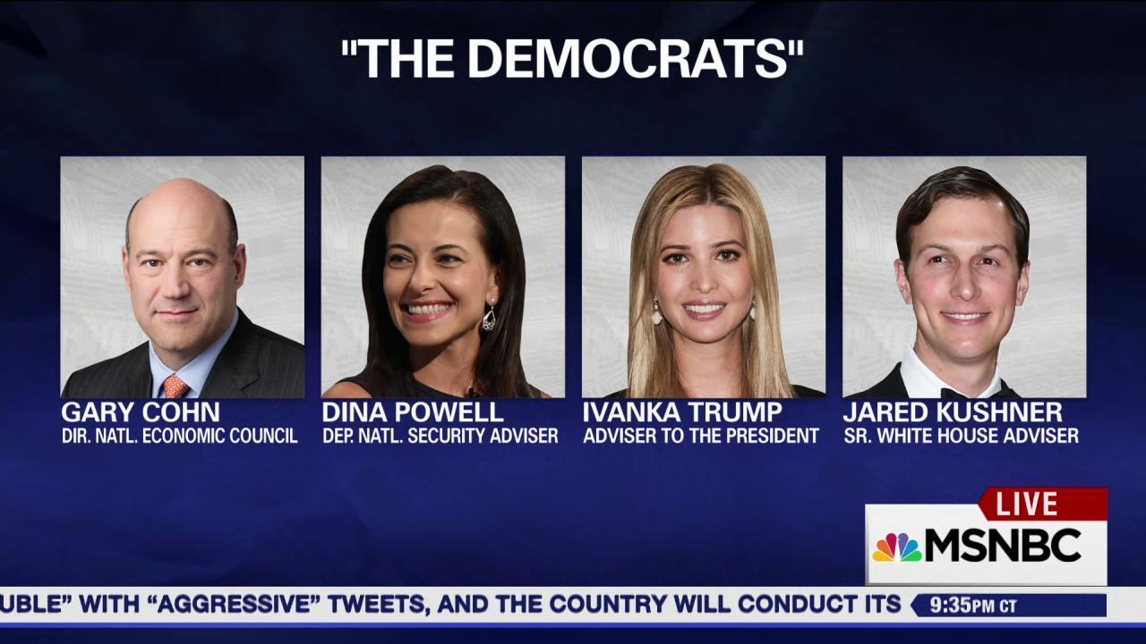 'Democrats' taking over the Trump White...