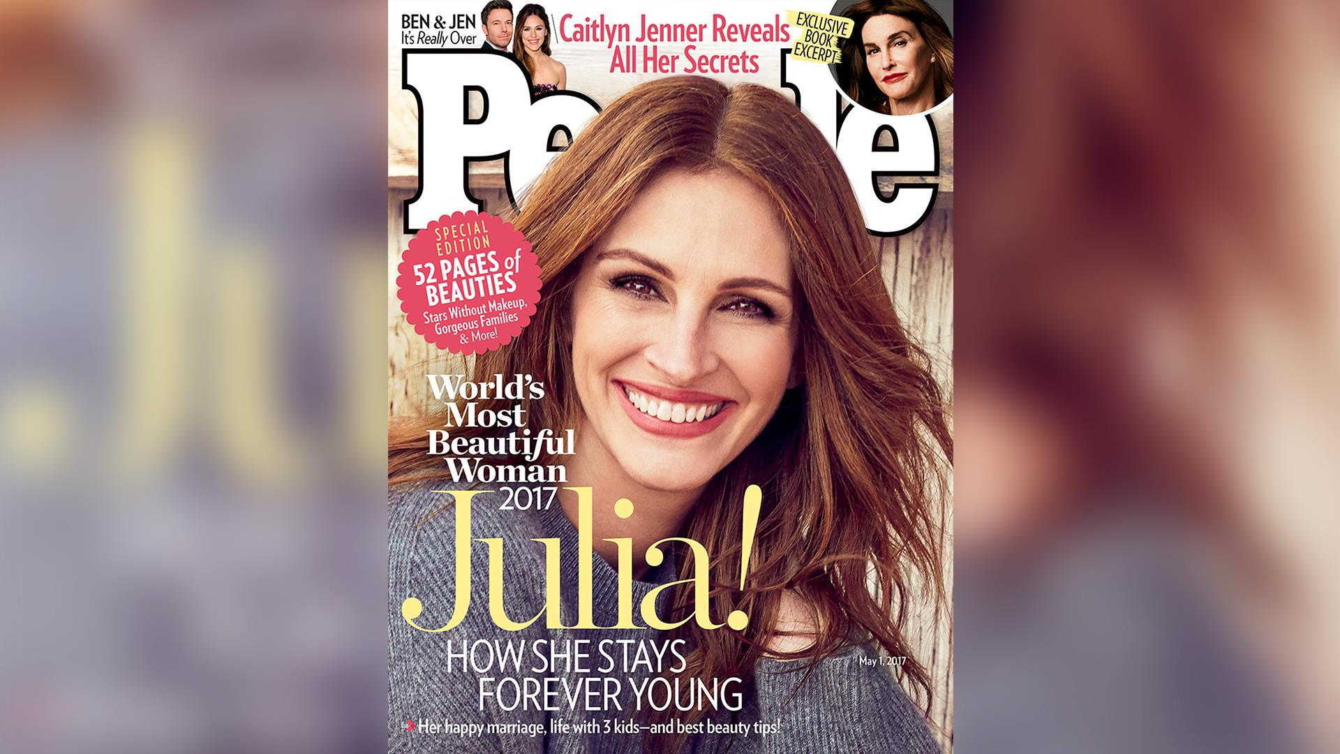 Julia Roberts Named People S Most Beautiful Woman For 5th Time See Her Past Covers