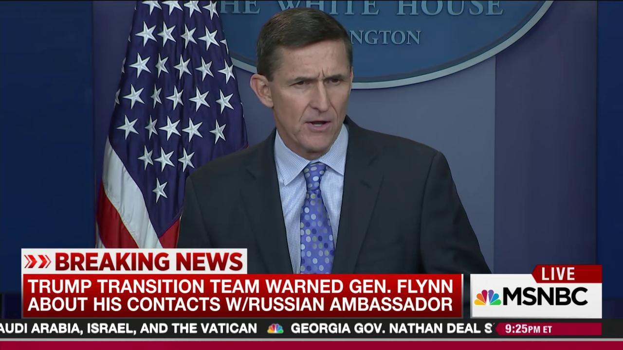Trump camp warned Flynn about Russia contacts