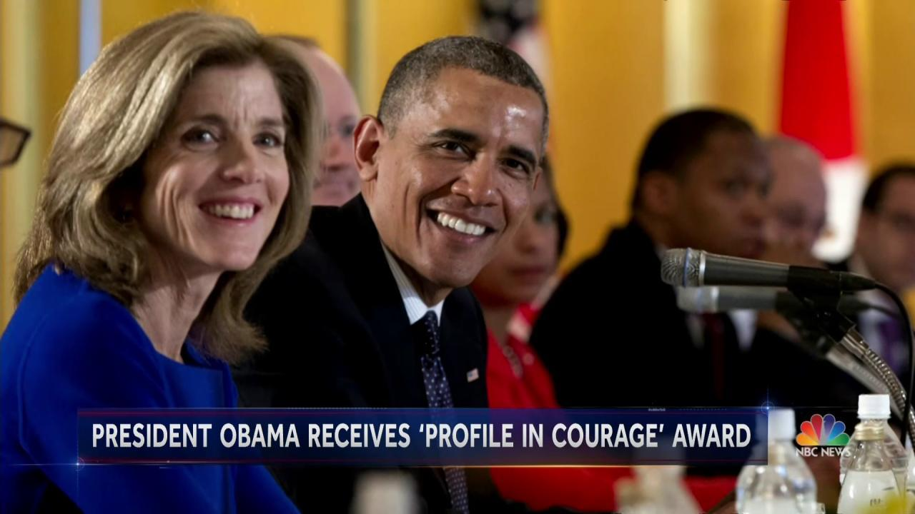 Kennedy Family Awards Obama with 'Profile in Courage' Award