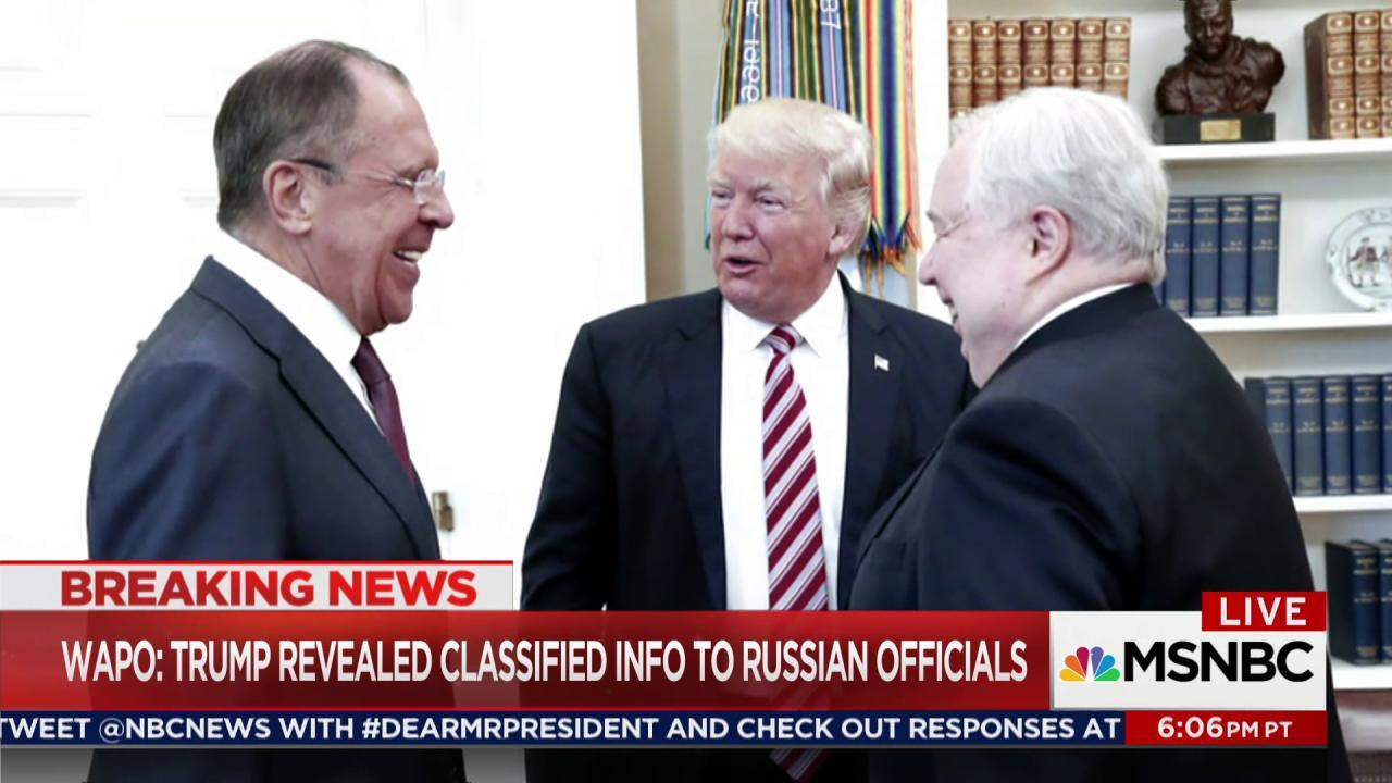 WaPo: Trump shares secret info with Russians
