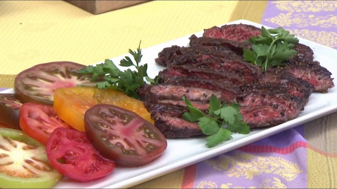 Skirt steak au poivre and side dishes for Memorial Day: Get the recipes!