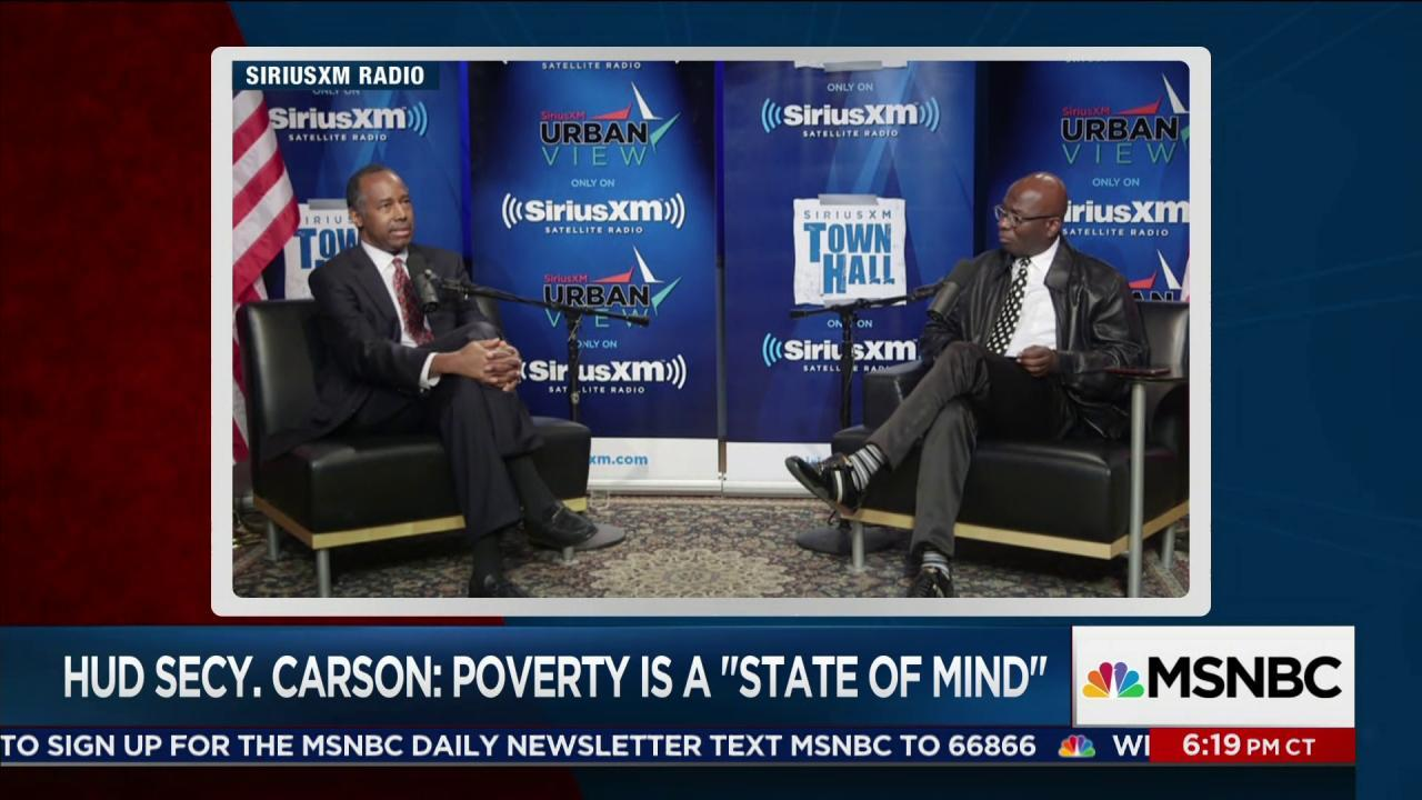 """Carson: Poverty is a """"state of mind"""""""