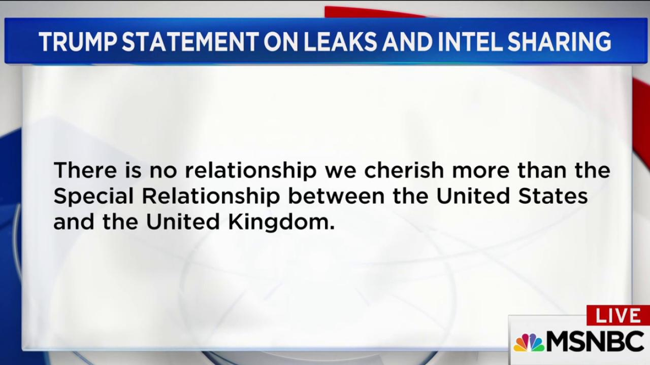 Trump: Intel Leaks on Manchester...