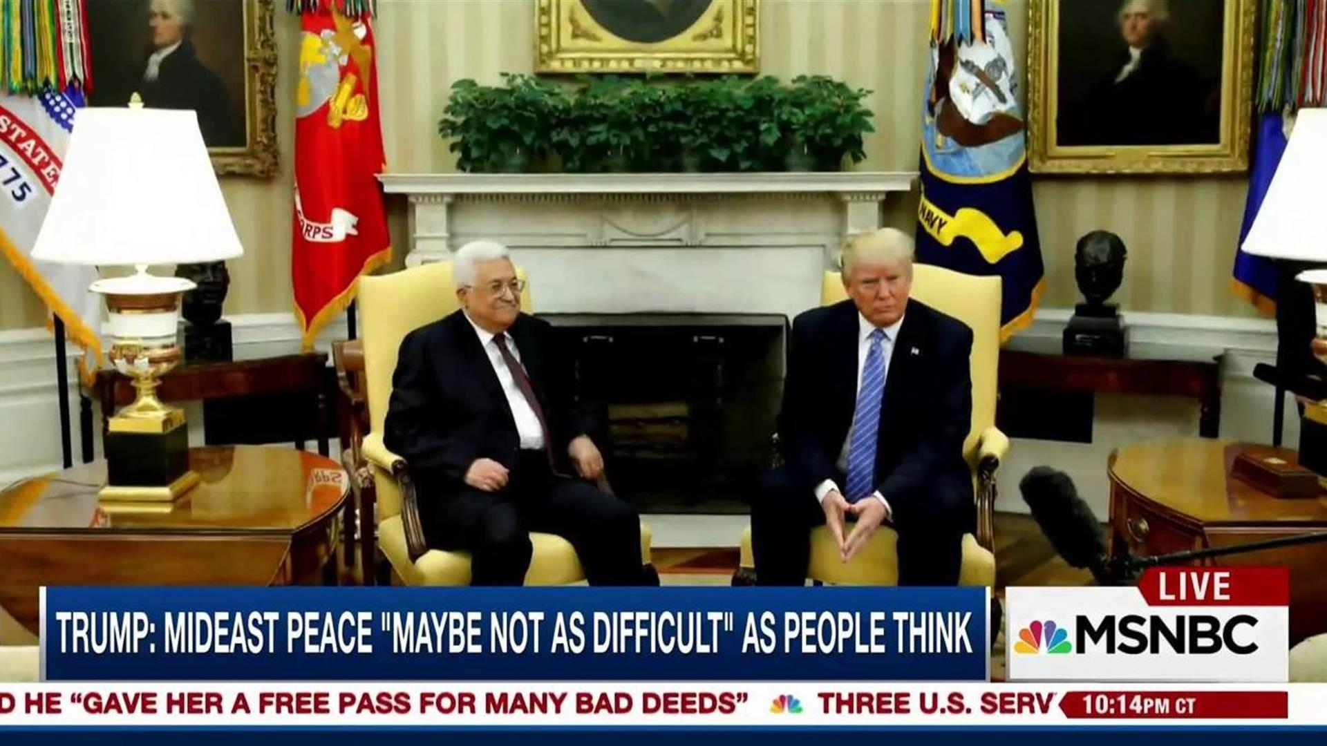 Trump: Middle East peace 'maybe not as...