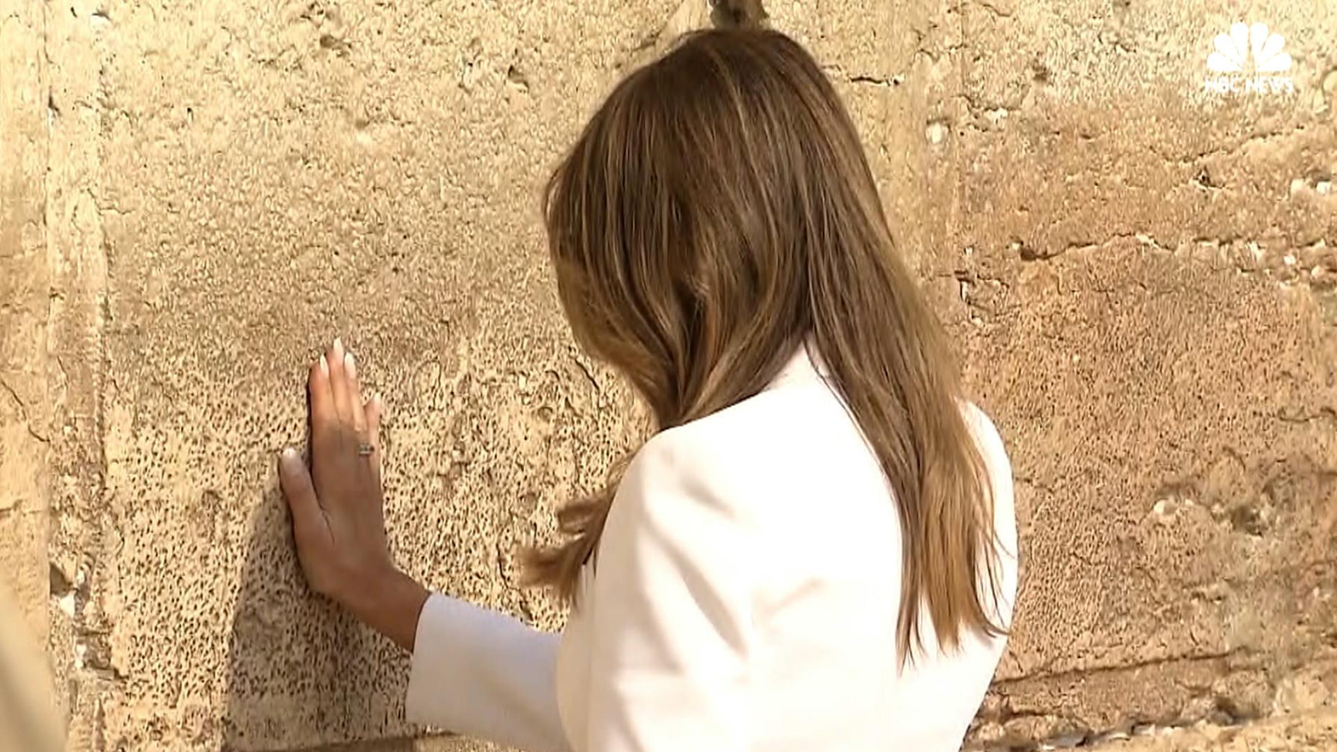 Melania And Ivanka Trump Pray At The Western Wall Nbc News