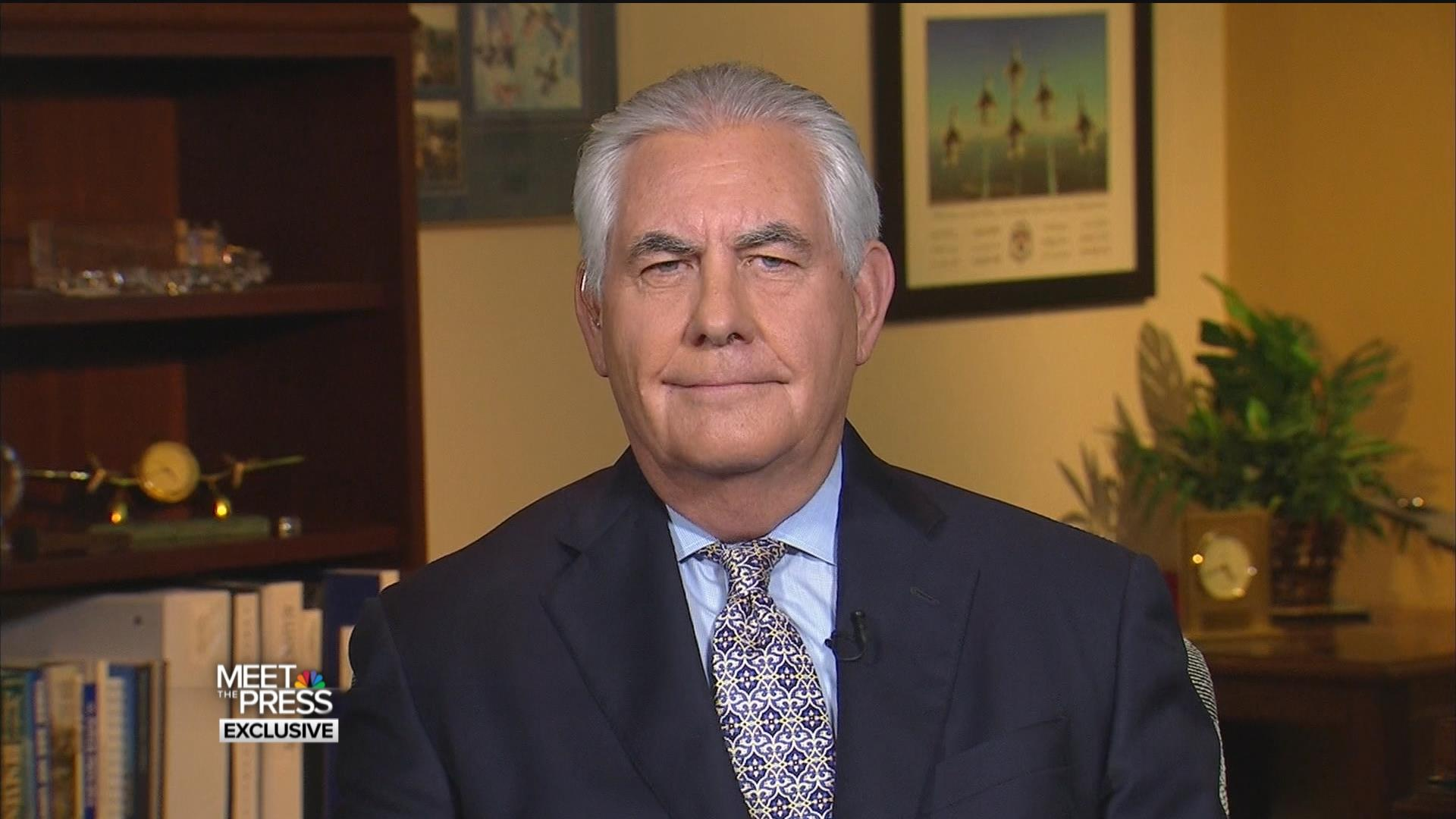 Full Interview Tillerson On Russia Comey And His Relationship With Tru...