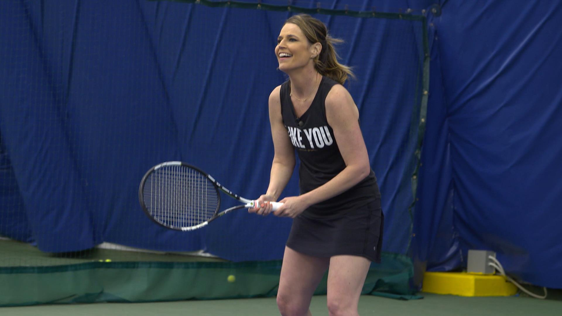 Savannah Guthrie Starts Summer Of Yes With Tennis Lessons