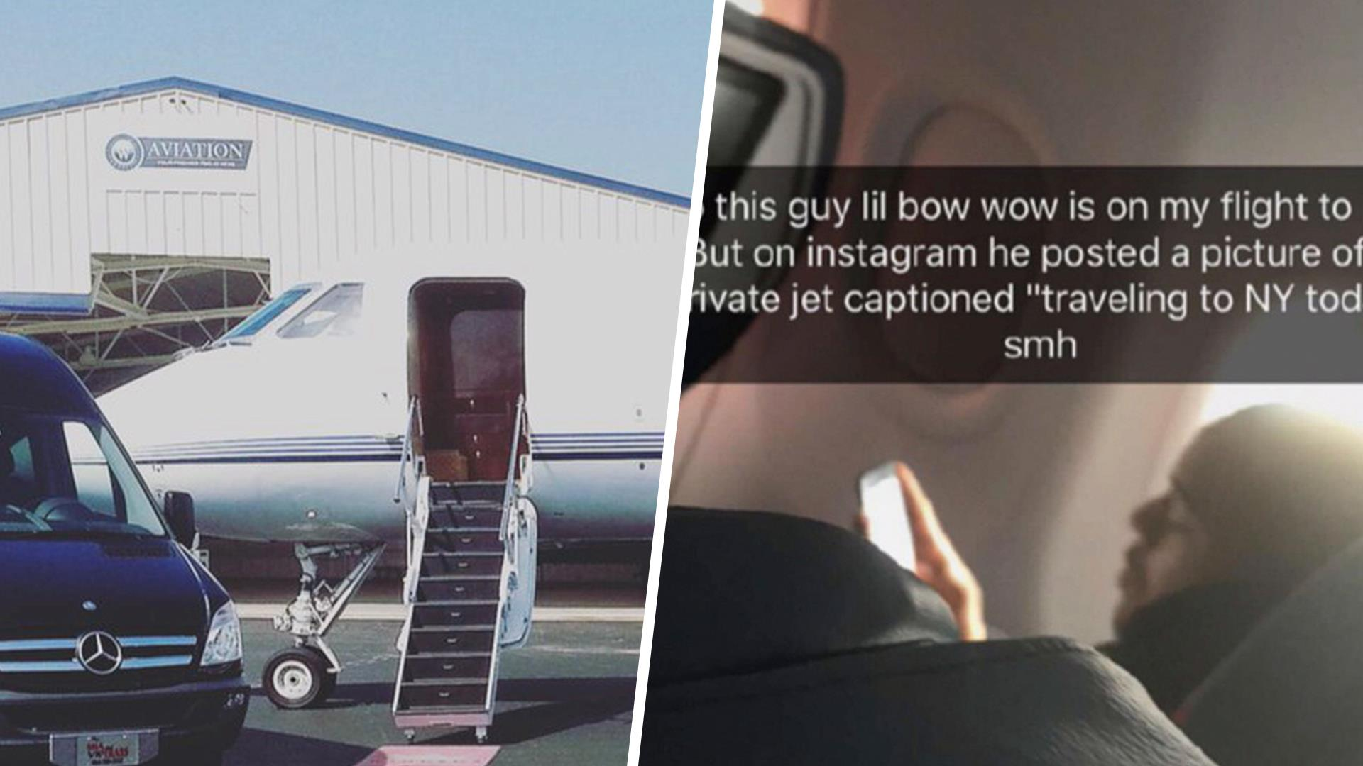 Rapper Bow Wow Mocked After Posting Photo Of Private Plane NBC - Rapper gets called out for lying online internet starts its own challenge in response