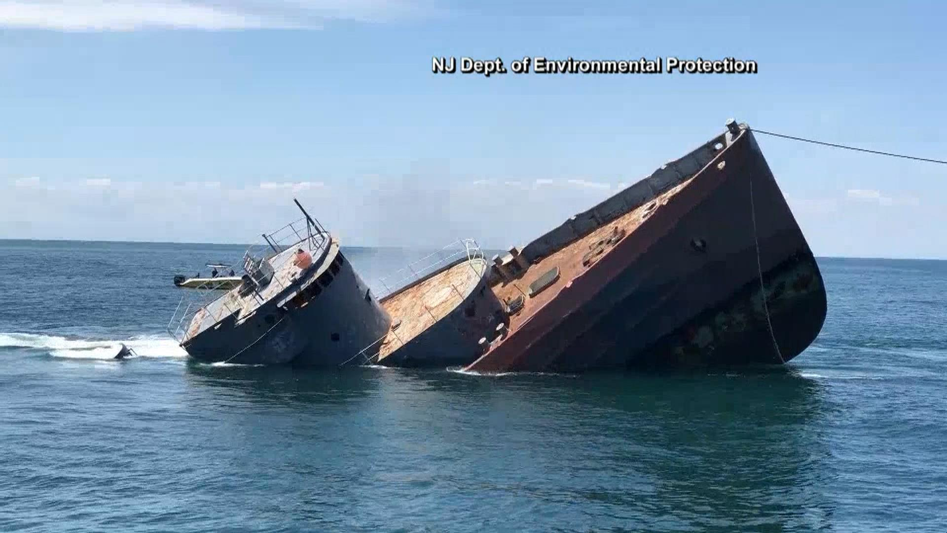'The Perfect Storm' ship comes to a fitting end beneath the waves