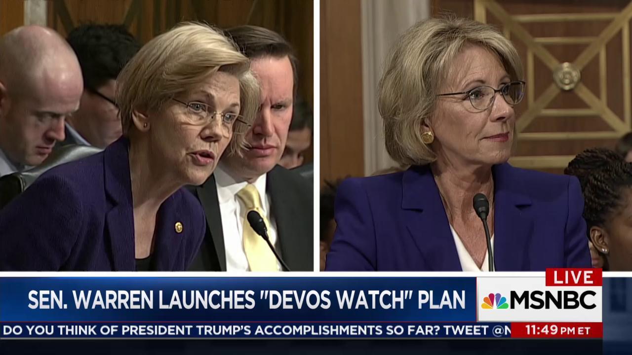 Sen. Warren launches effort to track Trump...