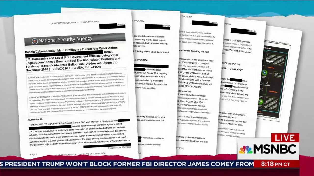 Leaked docs show new depth of Russian hacking