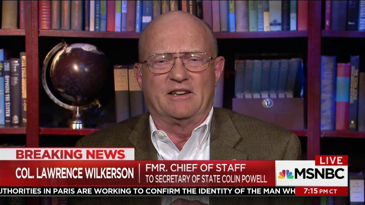 Lawrence Wilkerson: Trump admin. 'like a...
