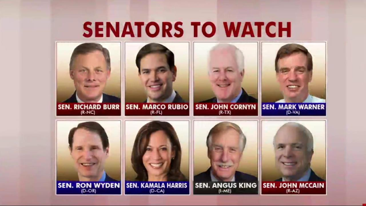 Watch these senators today during Comey...