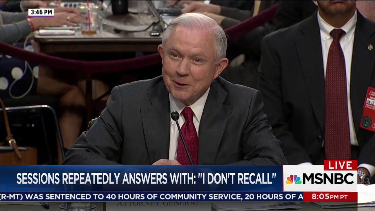 Jeff Sessions said 'I don't recall' a lot...