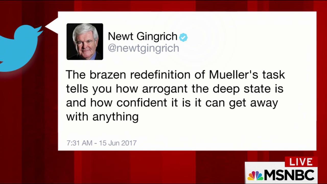 Gingrich, Trump write new tweets on Mueller