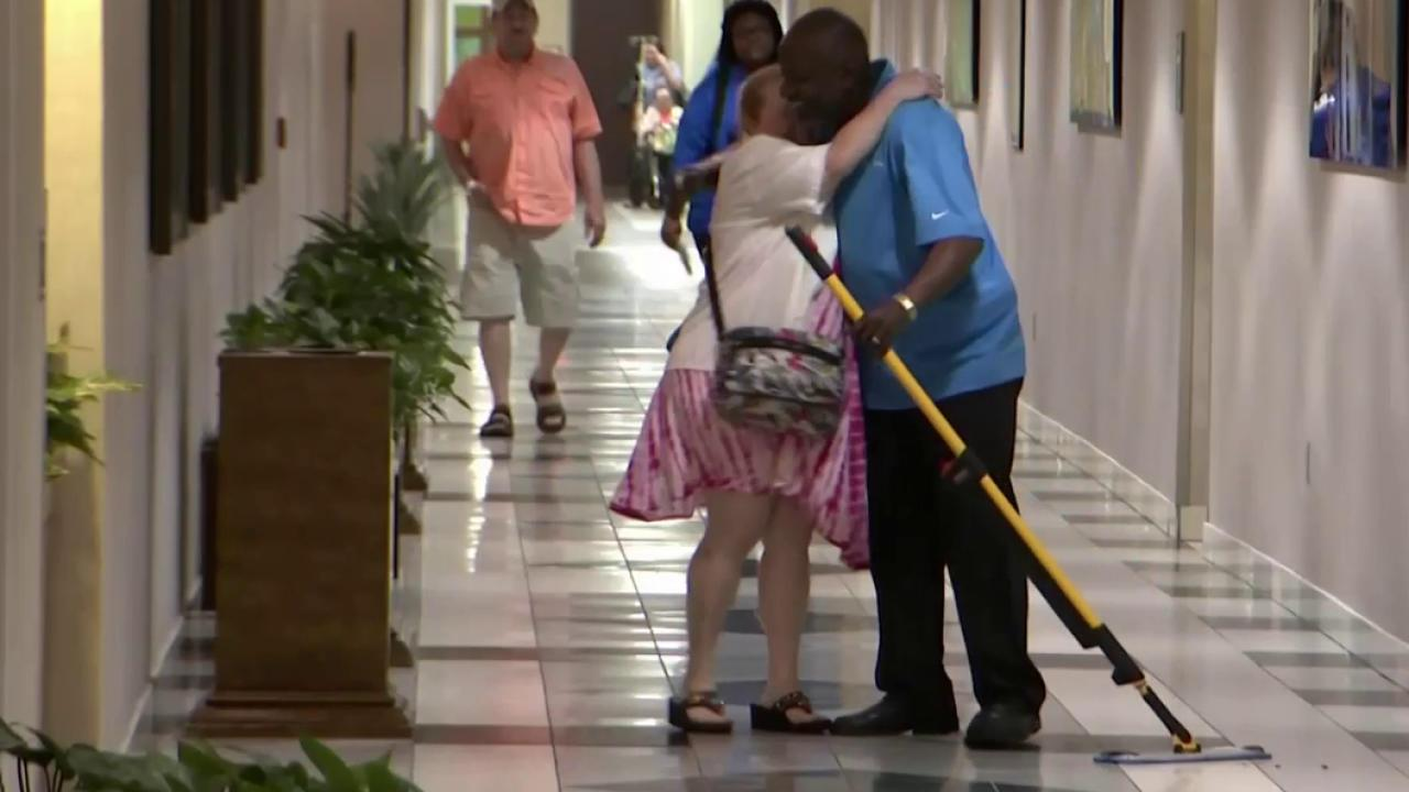 singing janitor makes hospital patients smile nbc news