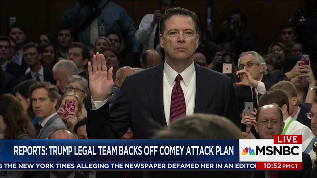Reports: Trump legal team backs off Comey...