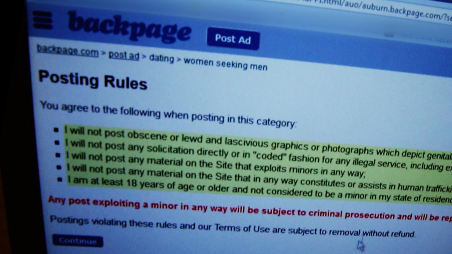 Backpage removes adult ads in protest of 'censorship'
