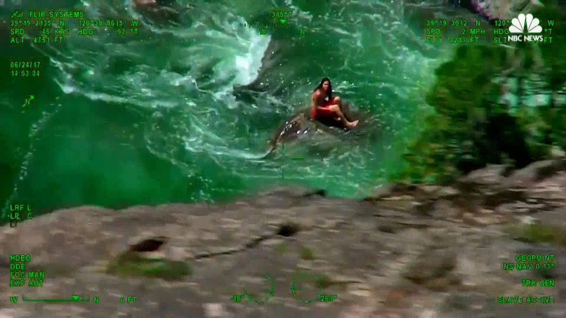 Swimmer rescued by helicopter from rough waters thecheapjerseys Images