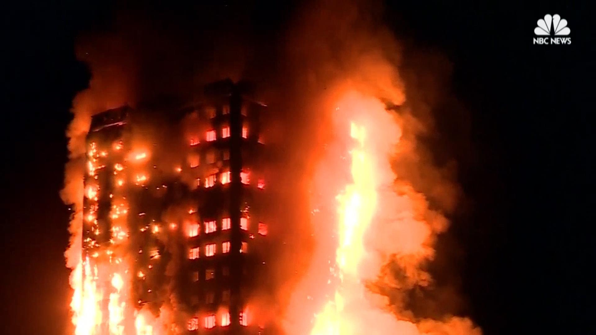 London Apartment Building Burns In Massive Fire Nbc News
