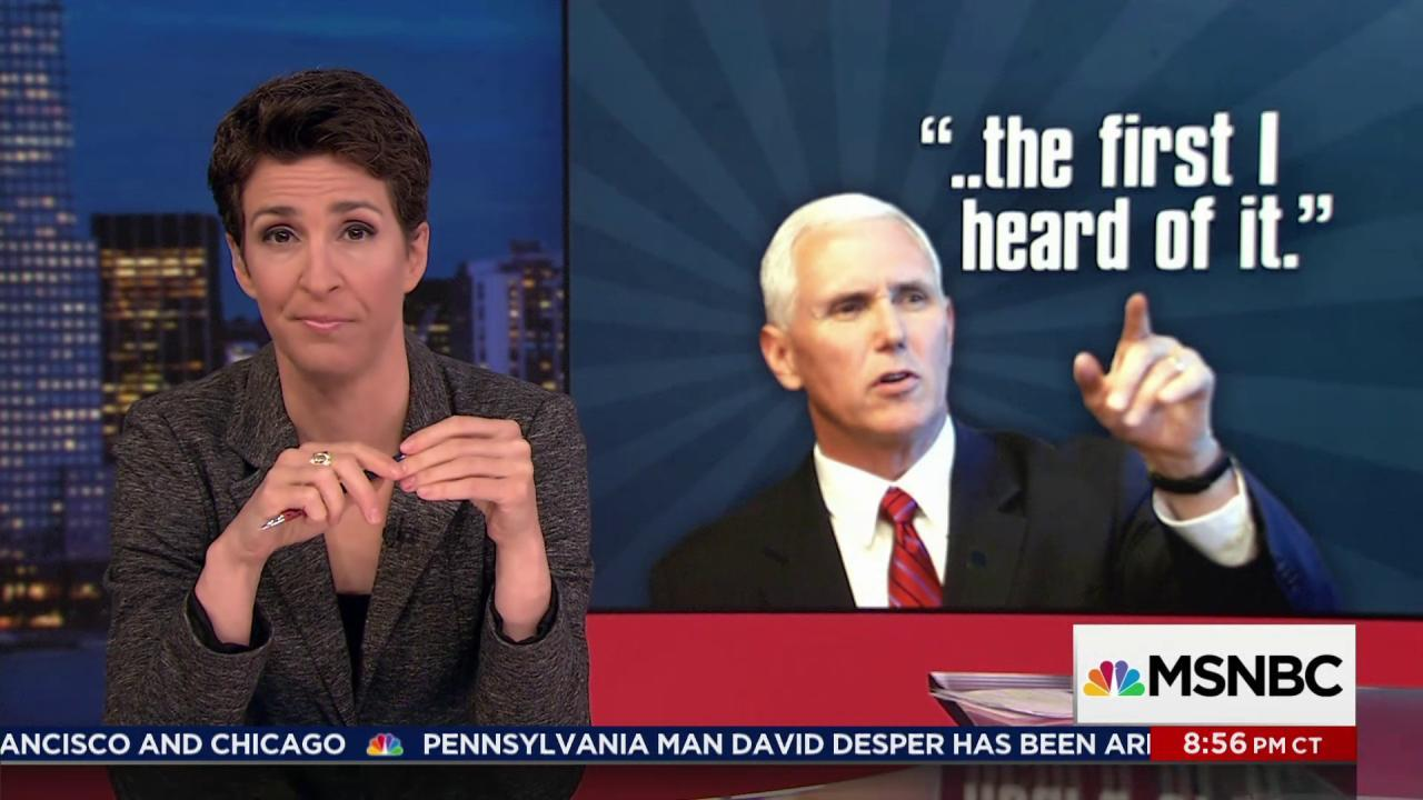 The Flynn matter is also the Pence matter