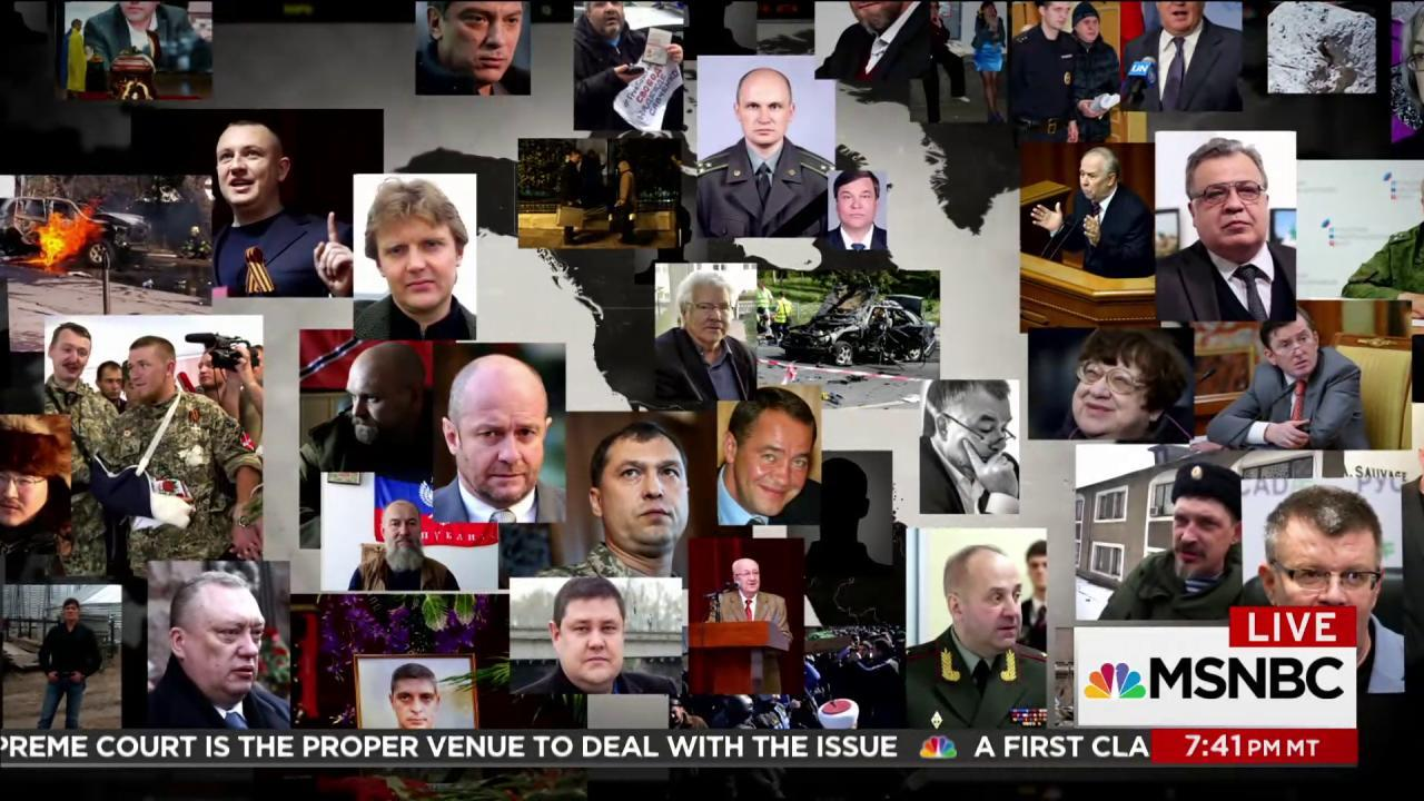 Alarming pattern of Russian political deaths
