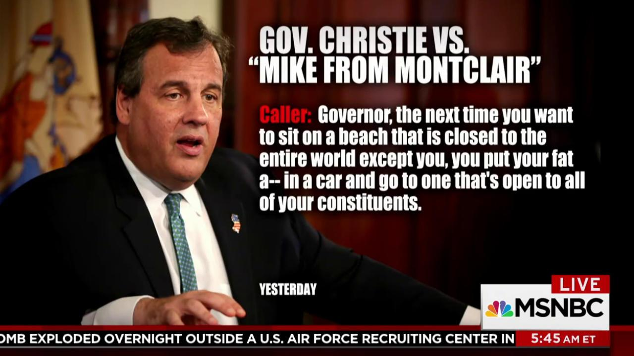 Christie gets into spat with talk-radio...