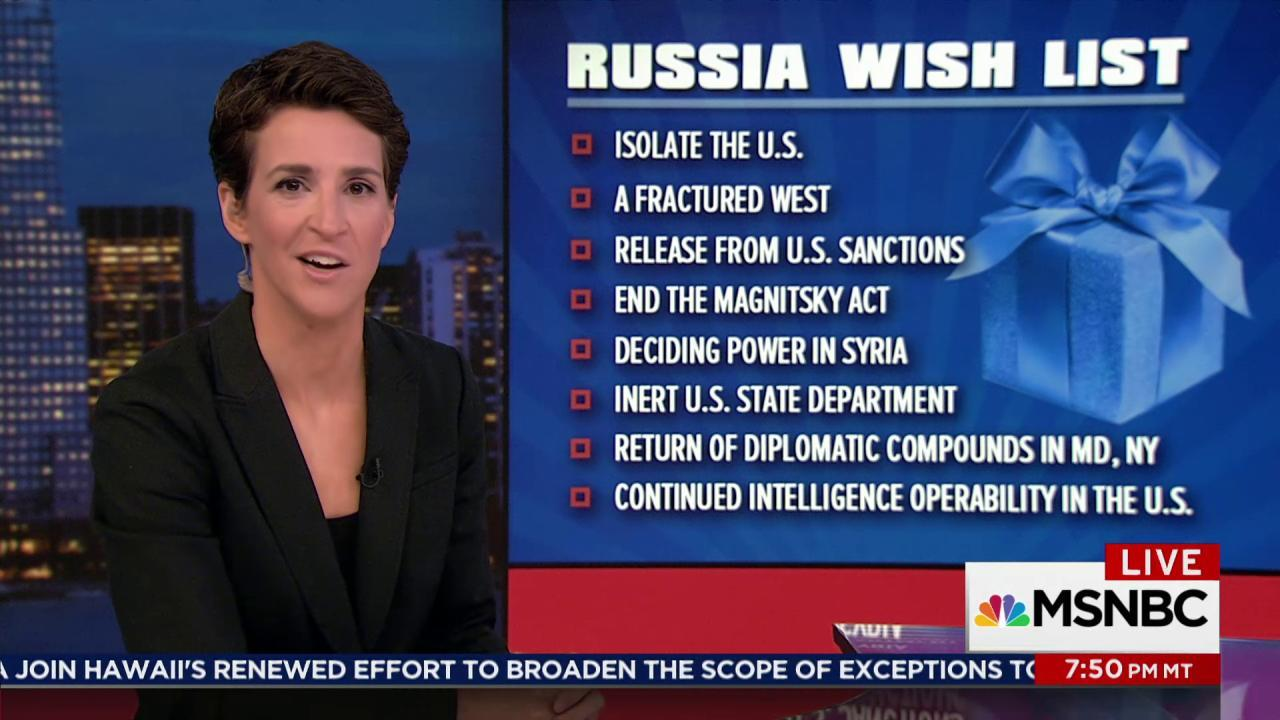 Russia enjoying great success with Trump