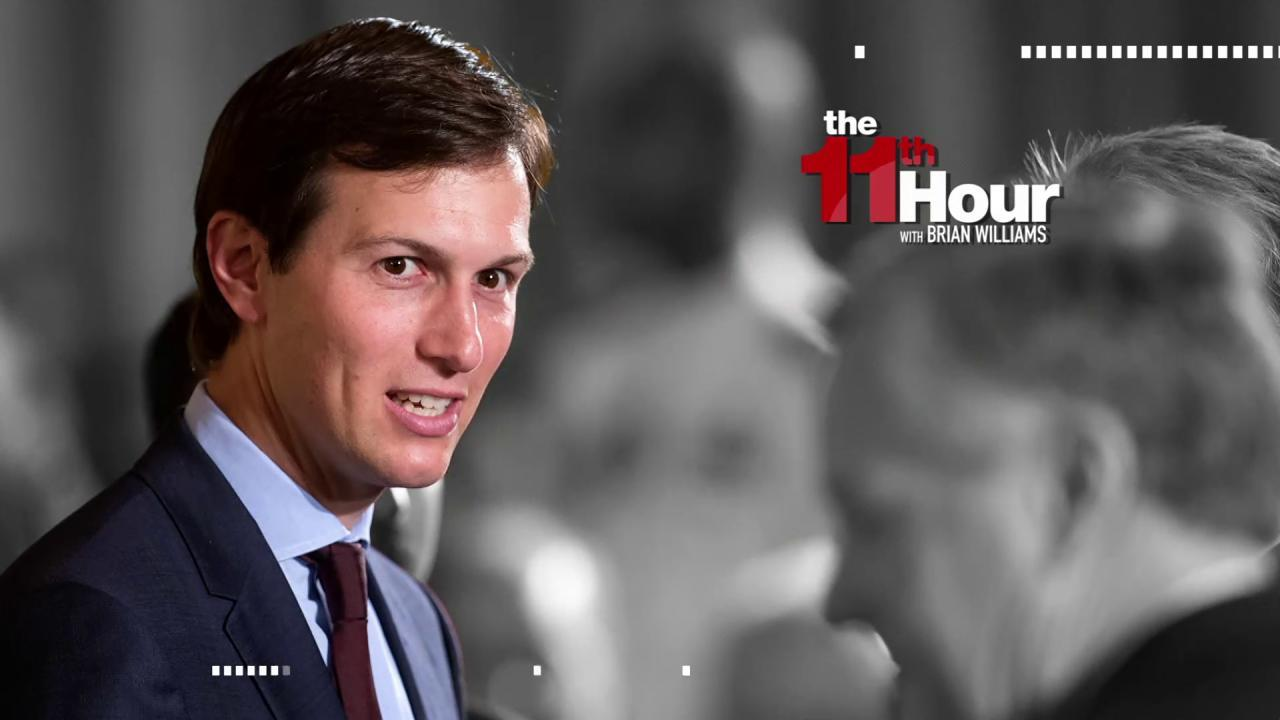 Report: Kushner wants to go on offense...